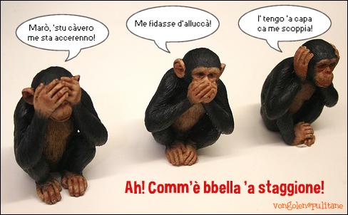 tre scimmiette