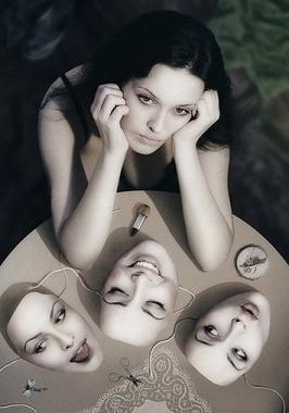 faccera, maschera, falsità