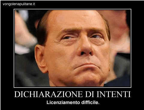demotivational, berlusconi, lettera intenti